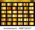 set of gold gradients.golden... | Shutterstock .eps vector #488726527