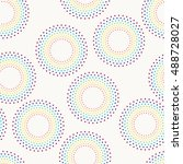 seamless pattern with dotted... | Shutterstock .eps vector #488728027