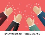 human hands clapping. vector... | Shutterstock .eps vector #488730757