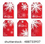 festive collection of red... | Shutterstock .eps vector #488733937