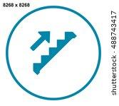 down staircase icon vector