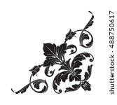 vintage baroque element... | Shutterstock .eps vector #488750617