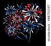 vector holiday firework | Shutterstock .eps vector #488752297