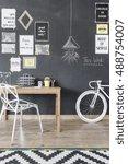 shot of a small modern studio... | Shutterstock . vector #488754007