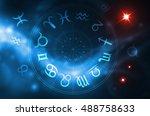 zodiac wheel | Shutterstock . vector #488758633