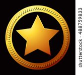 gold star icon isolated on...
