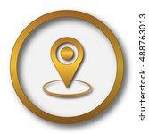 pin location icon. internet... | Shutterstock . vector #488763013