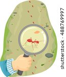 animal illustration featuring a ... | Shutterstock .eps vector #488769997