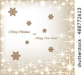 beautiful beige background with ... | Shutterstock .eps vector #488772613
