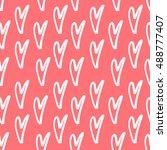 abstract seamless heart pattern.... | Shutterstock .eps vector #488777407