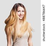 portrait of beautiful young... | Shutterstock . vector #488786647