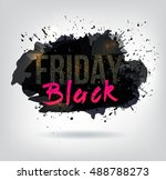 black friday sale abstract... | Shutterstock .eps vector #488788273