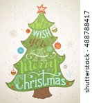 we wish you a merry christmas.... | Shutterstock . vector #488788417