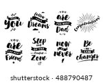 inspirational quotes set.... | Shutterstock .eps vector #488790487