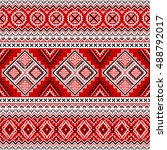 ethnic seamless pattern with... | Shutterstock .eps vector #488792017