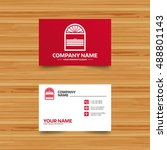 business card template. louvers ...   Shutterstock .eps vector #488801143