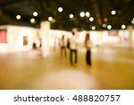 art exhibition gallery blurry... | Shutterstock . vector #488820757