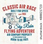 air racing illustration ... | Shutterstock .eps vector #488821723