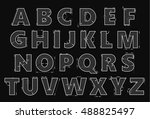 alphabet in style of a... | Shutterstock .eps vector #488825497