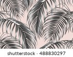 tropical seamless vector floral ... | Shutterstock .eps vector #488830297