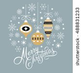 christmas card  christmas... | Shutterstock .eps vector #488831233
