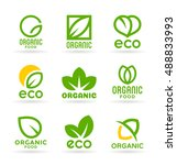 eco food  organic bio products  ... | Shutterstock .eps vector #488833993