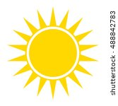 yellow sun icon. yellow sun...