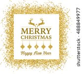 christmas background with... | Shutterstock .eps vector #488849977