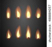Burning Candle Flame Animation...