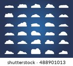 set of different cloud.