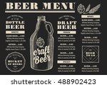 beer menu placemat food... | Shutterstock .eps vector #488902423