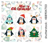 vector template for card  paper ... | Shutterstock .eps vector #488904703