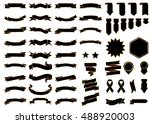 ribbon black vector icon on... | Shutterstock .eps vector #488920003