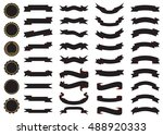 banner black vector icon set on ... | Shutterstock .eps vector #488920333