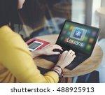 study education e learning... | Shutterstock . vector #488925913