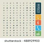 website icon set vector | Shutterstock .eps vector #488929903
