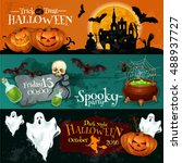 traditional halloween... | Shutterstock .eps vector #488937727