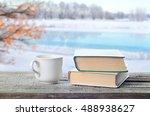hot coffee or tea  cocoa ... | Shutterstock . vector #488938627