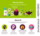 monster party web design... | Shutterstock .eps vector #488942803