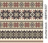 nordic tradition pattern   Shutterstock .eps vector #488956507