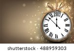 2017 new year sepia background... | Shutterstock .eps vector #488959303