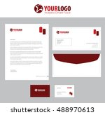 vector corporate identity... | Shutterstock .eps vector #488970613