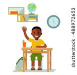 school children pupil. student... | Shutterstock .eps vector #488972653