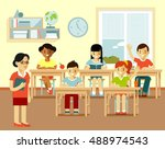 different school children at