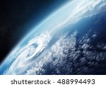 planet earth from space close... | Shutterstock . vector #488994493