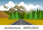 the autumn landscape of forests ... | Shutterstock .eps vector #489012823
