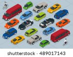 flat 3d isometric high quality... | Shutterstock .eps vector #489017143