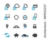 business data protection... | Shutterstock .eps vector #489022237