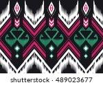 geometric ethnic oriental... | Shutterstock .eps vector #489023677