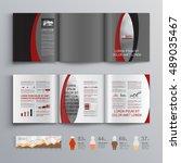 gray classic business brochure...   Shutterstock .eps vector #489035467